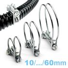 Double Wire HOSE CLAMP GALVANISED Garden, Car, DIY, Water, Home, Tube (10~60mm)