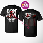 Bon Jovi 2020 Tour With Bryan Adams Black Men's T shirt.Size S-3XL. image
