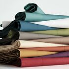 1 PC Fitted Sheet Extra Deep Pocket Organic Cotton Solid Colors Twin Size  image