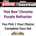 2020 Topps Heritage Hot Box Chrome Purple Refractor YOU U-PICK Complete Your Set on Ebay