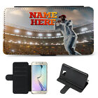 Personalised Cricket Samsung Phone Case Flip Cover Birthday Gift His Him Boys