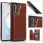 Galaxy Note 10 / Plus Case Cover Leather Magnetic Wallet Kickstand for Samsung