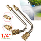 """17cm 1/4""""Quick Connect Pressure Power Washer Gutter Cleaner Lance Wand Elbow Rod"""