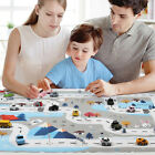 Kids Crawling Play Mat Foam Tiles Learning Carpet Rug Road Traffic City Town Map