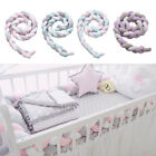 MagiDeal 2m Baby Bed Knot Plush Pad Protector Strip for Newborn
