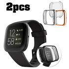 2 Pack For Fitbit Versa 2 Screen Protector Soft TPU Protective Full Cover Case image