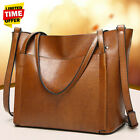 US Large Women Oil Leather Handbag Lady Shoulder Bag Crossbody Tote Satchel   image