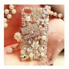 Bling Glitter Pearl Luxury Diamond Case Sparkle Crystal Cover For Various Phones