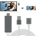 1080P HD HDMI Mirroring Smart Cable Phone to TV For iPhone/iPad/Android/Samsung