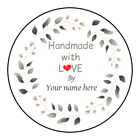 Personalized Handmade With Love Labels, Stickers, Tags