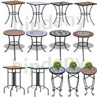 Mosaic Bistro Side Table Garden Coffee Table Decorative Outdoor Dining Furniture