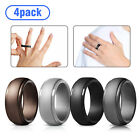 4-Pack Silicone Wedding Ring Men / Women Rubber Band Flexible Lifestyle #9-11