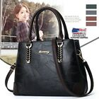Women Leather Handbag Messenger Crossbody Tote Purse Lady Satchel Shoulder Bag image