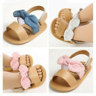 Newborn Baby Girl Crib Shoes Infant Child BowKnot Summer Sandals First Shoe 0-18