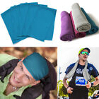 5 pcs Ice Cold Instant Cooling Towel for Sports Gym Yoga Fitness Workout Jogging image