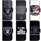 PIN-1 Oakland Raiders Phone Wallet Flip Case Cover for Samsung $13.49 USD on eBay