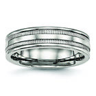 Chisel Stainless Steel Polished Grooved 6.00mm Band Ring SR522 image