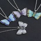 Vintage Antique Style Colour Butterfly Necklace Pendant Fashion Gift Jewellery