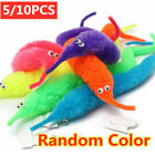 10PCS Magic Worm Twisty Toys Wiggly Fuzzy Carnival Party Favor Worm On A String