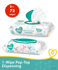 Pampers Sensitive Baby Wipes - Pack 72ct - Hypoallergenic - Perfume Free