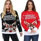 Ladies Women Christmas Pom Pom Xmas Warm Cosy Knitted Winter Jumper Sweater Top