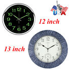 Garden Wall Clock Silent Quartz Thermometer Clock Waterproof Indoor/Outdoor USA