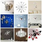 3d Diy Big Wall Clock Mirror Wall Sticker Living Room Home Art Decal Craft Decor