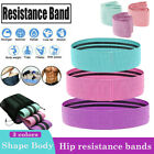 Resistance Bands Heavy Fabric Loop Set Glutes Hip Fitness Yoga Booty Exercise US image