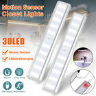 30 LED USB Rechargeable PIR Motion Sensor Closet Night Light Under Cabinet Lamps