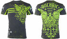 Archaic Affliction Mens S/S T-Shirt DRONE Wings BLACK Tattoo Biker M-XL $40 image