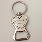 100Pcs Personalized Wedding Gifts For Guests Heart Bottle Wine Opener/Keychain W