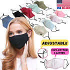 Kyпить Adjustable Cotton Face Mask Triple Layer Reusable Washable USA SAMEDAY SHIPPING на еВаy.соm