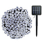 39.4ft 100 LED Solar Powered String Lights Fairy Garden Decor Outdoor Waterproof