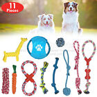 ROPE TOYS DOG AGGRESSIVE CHEWER TOYS PUPPY GRINDING UK STOCK SETS 11 PIECES