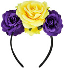 DDazzling Rose Flower Headband Fancy Dress Festival Cosplay Hair Accessories