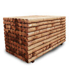 NEW MACHINE ROUNDED GARDEN RAILWAY SLEEPERS 120X100 2.4M BROWN RAISED BEDS
