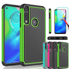 For Motorola Moto G Power 2020 Case Hybrid Silicone Cover/glass Screen Protector
