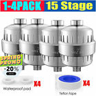 4 Pack 15 Stage Shower Filter for Hard Water Softener Remove Chlorine & Flouride