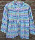 New 100 Cotton Bed Jacket Snap Front S M L 1X 2X 3X