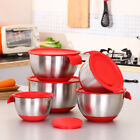 Stainless Steel Mixing Bowl Lid Grater Cake Salad Food Container Kitchen Tool AU