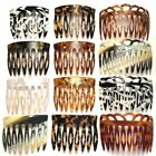 Large Curved Hair Decorating Side Back Comb Cut Out Looped Prongs Made in France