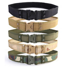 Army Tactical Military Trouser Belt Outdoor Camping Hiking Sport Quick Release