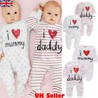 Newborn Baby Boys Girls Long Sleeve Romper Jumpsuit Sleepsuit Clothes Outfits UK