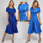 Beautiful Silky Lace Up Front Corset Midi Dress Size  UK 10-14
