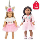 """For American Girl 18"""" Inch Dolls Princess Dress Clothes Outfit Accessories Set"""