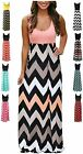 LIYOHON Womens Summer Striped Print Loose Maxi Dress Contrast Sleeveless Tank To