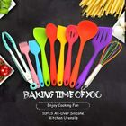 10Pcs Silicone Kitchen Utensils Set Nonstick Cooking Baking Tools Spatula Turner