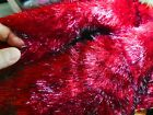 "Blood red fur with black tip faux fur made to (14""x14"" ) pillow cover"