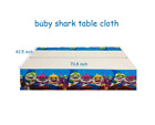 108*180cm Baby Shark Birthday Party Deco Plastic Disposable Table Cover