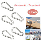 Stainless Steel Spring Snap Hook Carabiner Home Gym Body Building Weightlifting